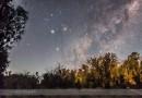 Marte, Saturno, Antares y la Vía Láctea desde Australia