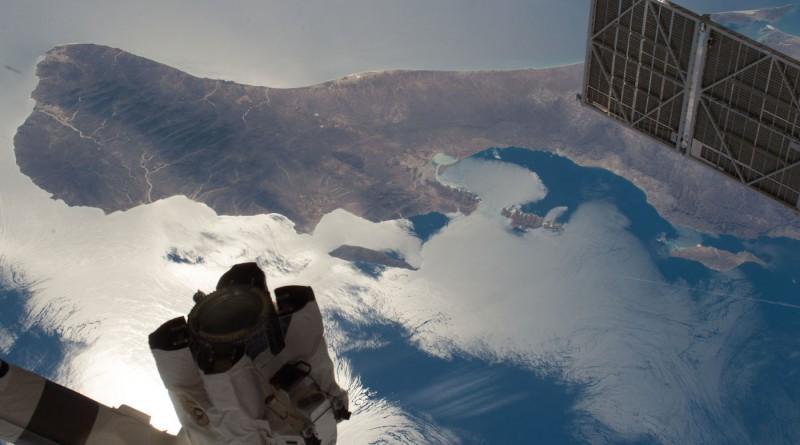 El sur de la península de Baja California desde la Estación Espacial Internacional