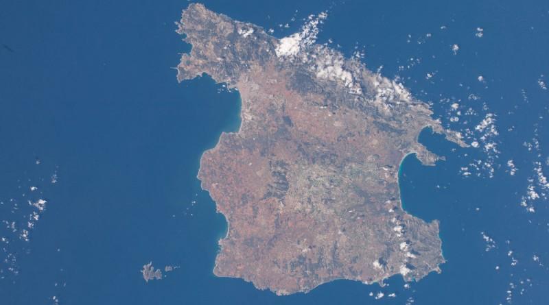 Imagen de la isla de Mallorca (España) desde la Estación Espacial Internacional