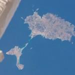 Las islas de Ibiza y Formentera desde la Estación Espacial Internacional