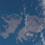 Las islas Malvinas desde la Estación Espacial Internacional
