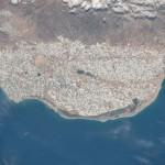 Los invernaderos de El Ejido, Almería (España) desde la ISS