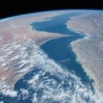 El Golfo Pérsico y el Golfo de Omán desde la Estación Espacial Internacional