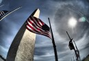 Halo solar desde Washington D. C (Estados Unidos)