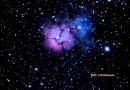 Imagen de la Nebulosa Trífida (M20) desde Estados Unidos