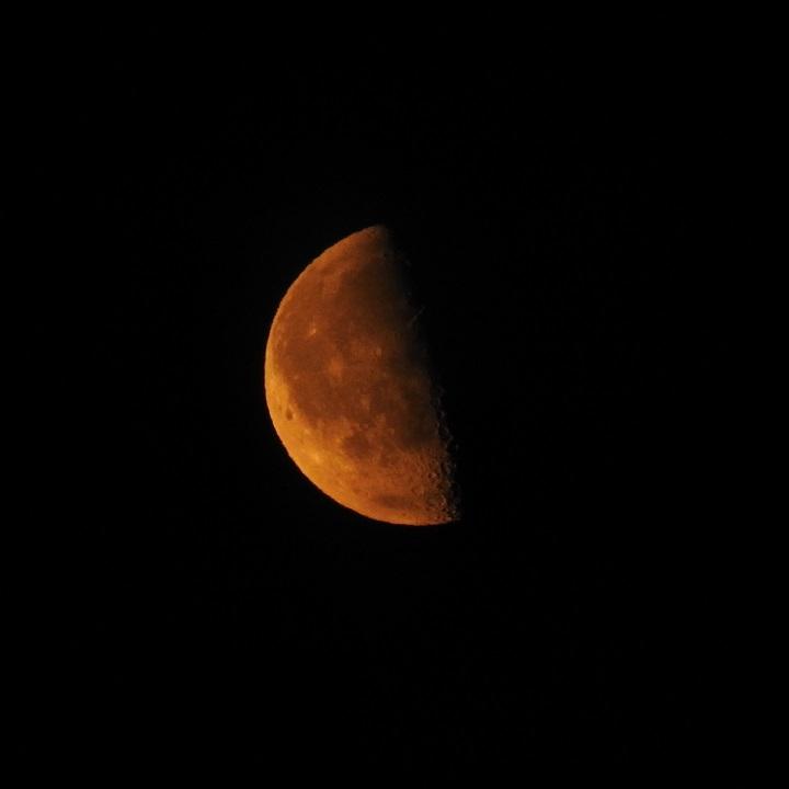 La Luna en fase cuarto menguante desde Berlín, Alemania - El ...