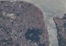 Lisboa, Portugal, desde la Estación Espacial Internacional