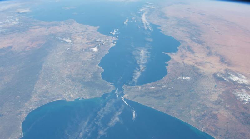 El Estrecho de Gibraltar desde la Estación Espacial Internacional
