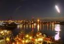 Foto de un bólido sobre el puerto de Portsmouth (New Hampshire, EE. UU)