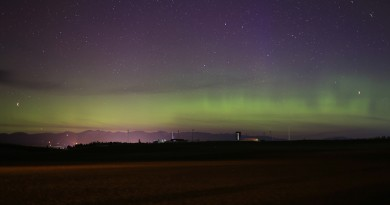 Auroras boreales desde Montana, Estados Unidos