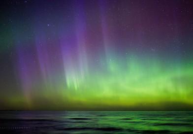 Auroras boreales desde Míchigan, Estados Unidos
