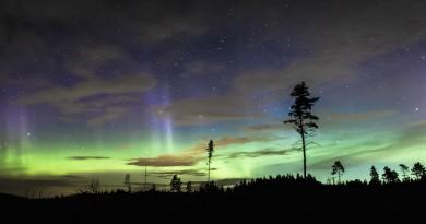 Auroras boreales desde Västerlanda (Suecia)
