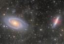 Imagen de la Galaxia de Bode (M81) y la Galaxia del Cigarro (M82)