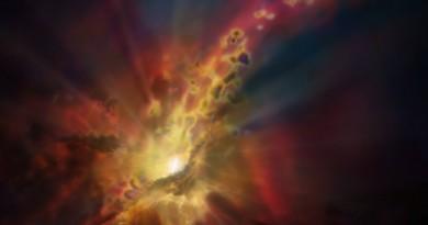 Un agujero negro alimentado por una tormenta intergaláctica