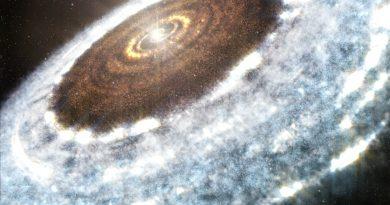 Descubren una línea de nieve de agua alrededor de una estrella joven