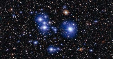 Las brillantes estrellas azules del cúmulo Messier 47