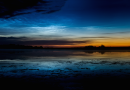 Nubes noctilucentes desde Alberta, Canadá