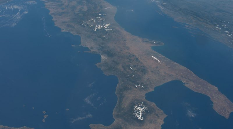 Imagen de Italia tomada desde la Estación Espacial Internacional