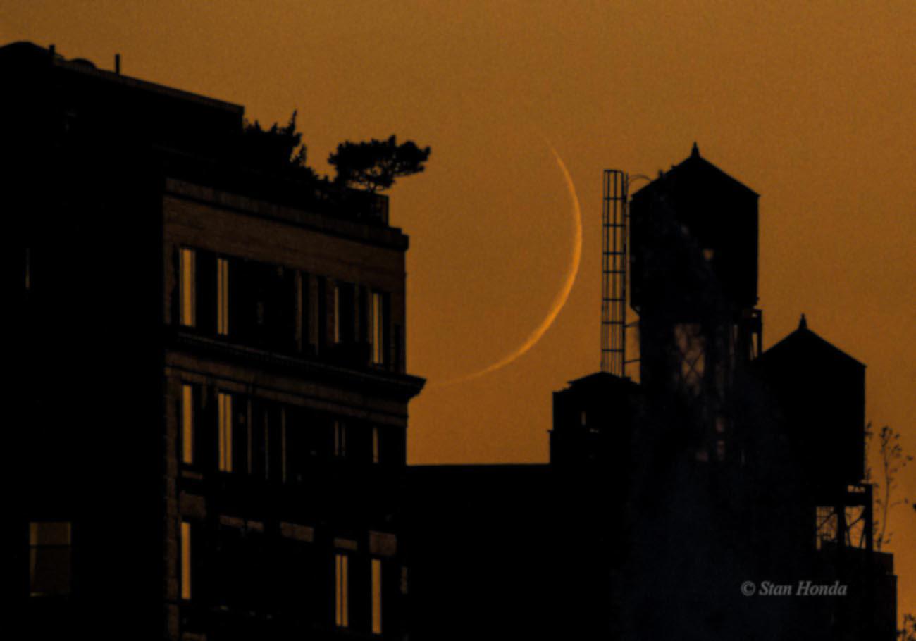 La luna creciente desde manhattan nueva york el for Proxima luna creciente