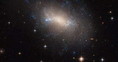 NGC 2337: una galaxia sin forma en la constelación del Lince