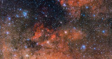 Un laboratorio estelar en la constelación de Sagitario