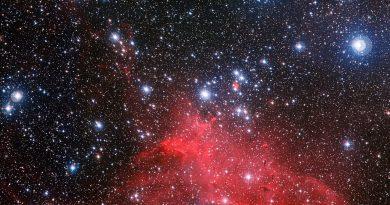 Un impresionante paisaje esculpido por estrellas hermanas