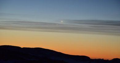 Venus y Júpiter desde la Antártida