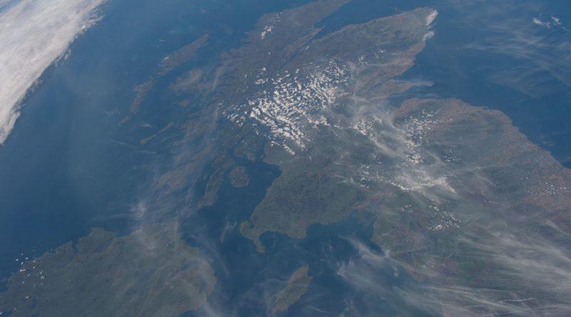 Irlanda, Escocia y el norte de Inglaterra desde la ISS