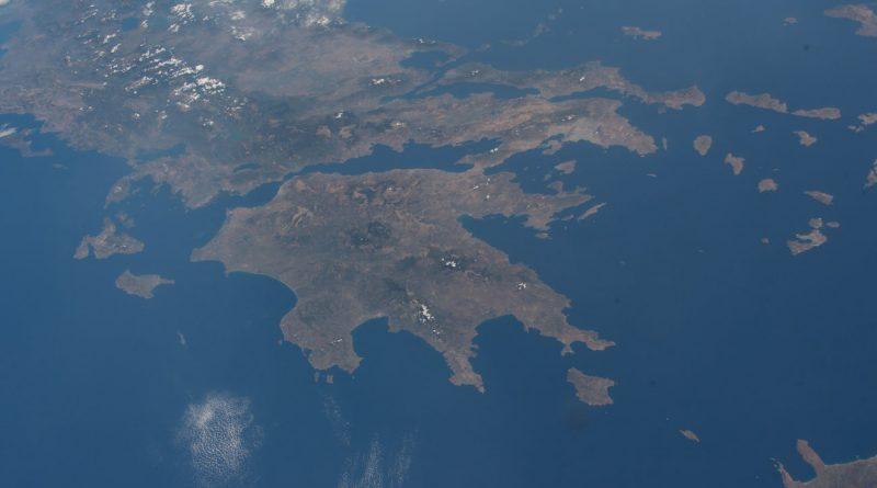 Grecia desde la Estación Espacial Internacional
