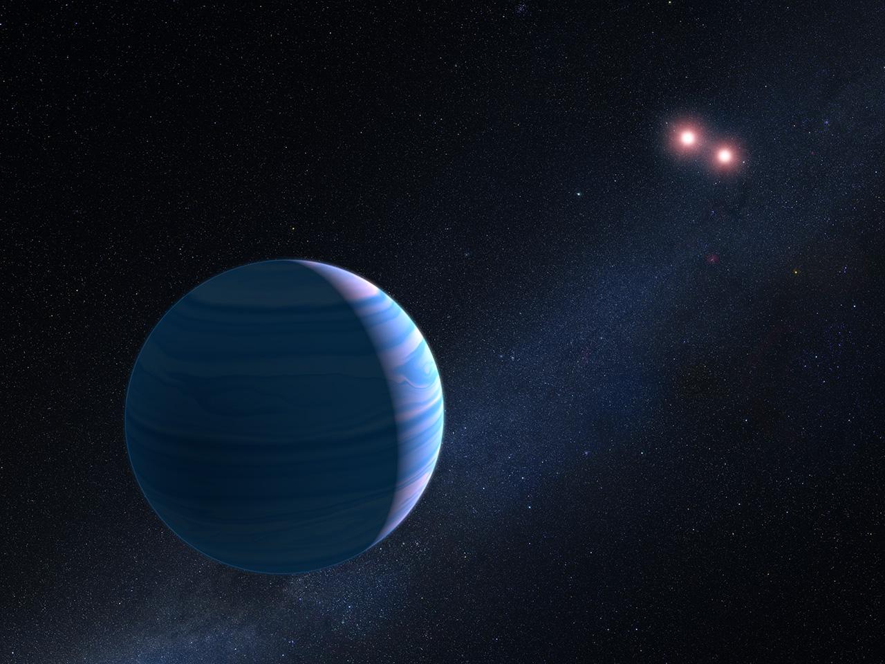 Confirman la existencia de un exoplaneta orbitando dos estrellas