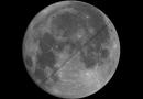La secuencia del tránsito de la ISS frente a la Luna llena