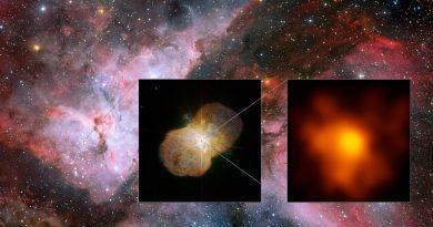 Obtienen la imagen más detallada del sistema estelar masivo Eta Carinae