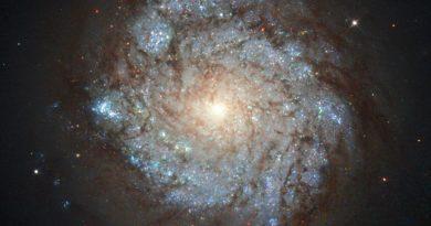 Una galaxia insual en la constelación de Casiopea