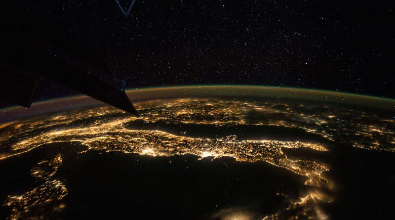Italia desde la Estación Espacial Internacional