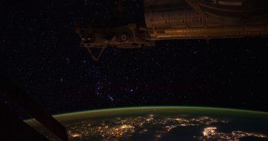 La constelación de Orión desde la Estación Espacial Internacional