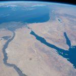 El Cairo, el Río Nilo (Egipto), el Mar Rojo y la Península del Sinaí desde la ISS