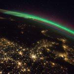 Auroras boreales y el norte de Europa desde la ISS