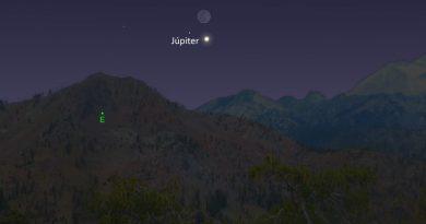 La conjunción de la Luna y Júpiter será visible antes del amanecer del 28 de octubre