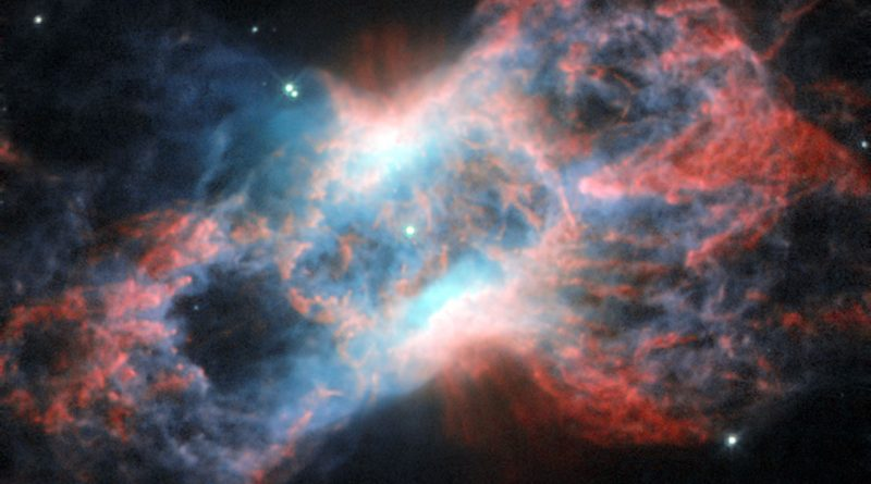 El Hubble capta los restos de una estrella que llegó al final de su vida