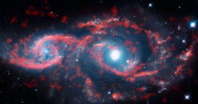 Astrónomos observan una colisión galáctica a 114 millones de años luz de distancia