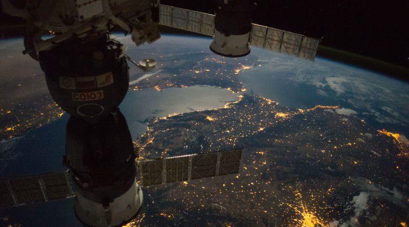Madrid, España y el Estrecho de Gibraltar desde la ISS