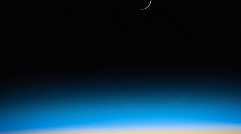 Imagen de la Luna desde la Estación Espacial Internacional