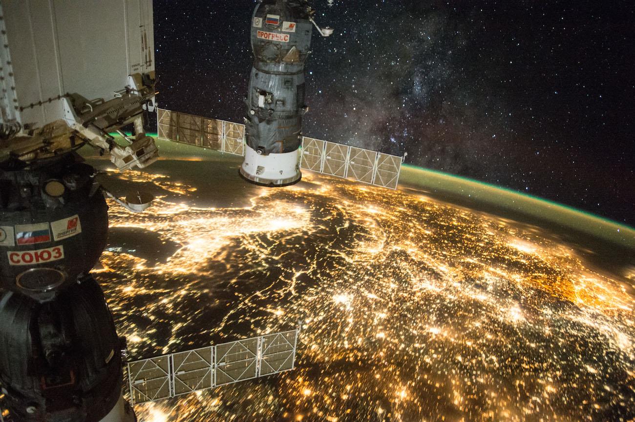 La Vía Láctea y Europa Central desde la ISS – El Universo Hoy
