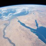 El río Nilo, Egipto, la península del Sinaí y el mar Rojo desde la ISS