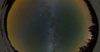La Vía Láctea desde los Montes Cárpatos, Ucrania