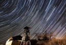 Imagen de rastro de estrellas desde Agostyán, Hungría