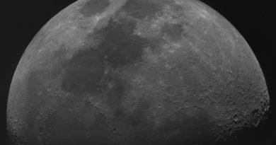 La Luna desde Overmere, Bélgica
