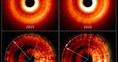 El Hubble detecta una sombra producida por un posible exoplaneta