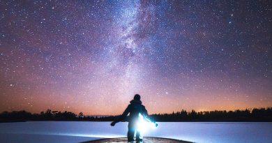 La Vía Láctea desde el Parque Nacional de Thy, Dinamarca