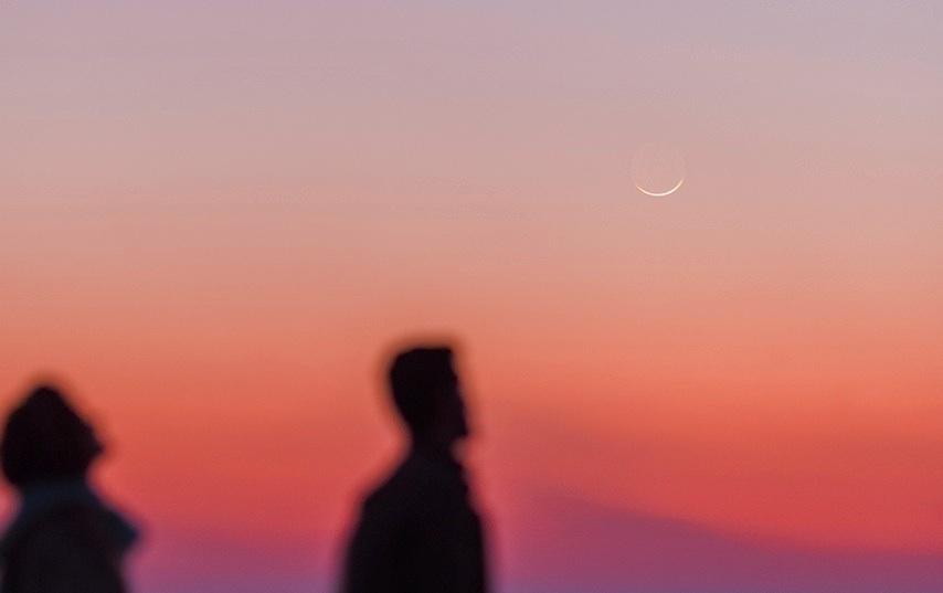 La luna creciente al atardecer desde ir n el universo hoy for Proxima luna creciente